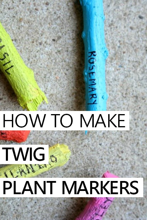 HOW TO MAKE TWIG PLANT MARKERS