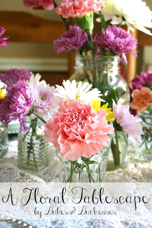 a floral tablescape