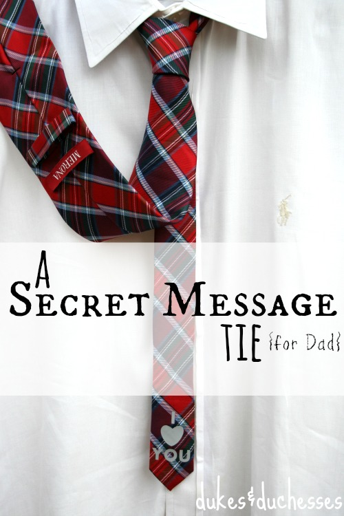 a secret message tie