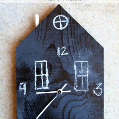 Chalkboard House Clock