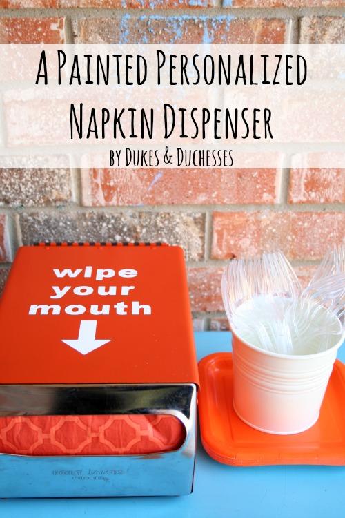 painted napkin dispenser