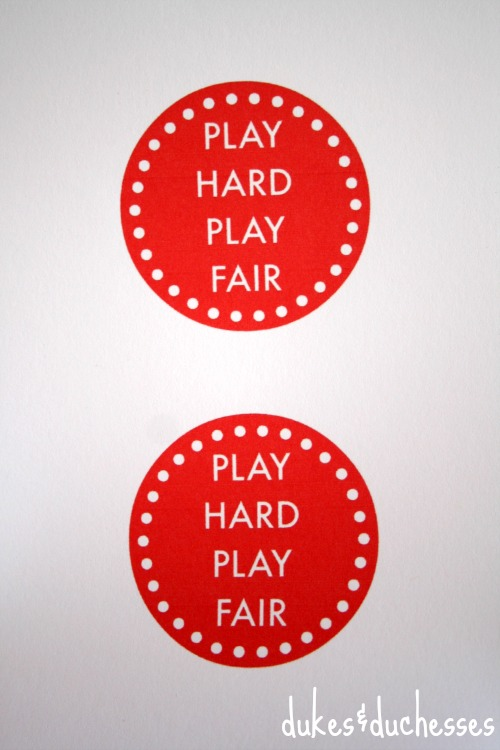 play hard play fair printable