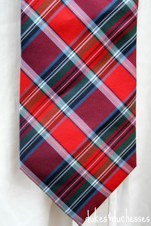 tie with a secret message