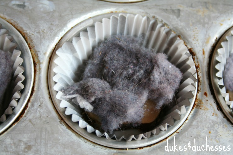 upcycled dryer lint for firestarters