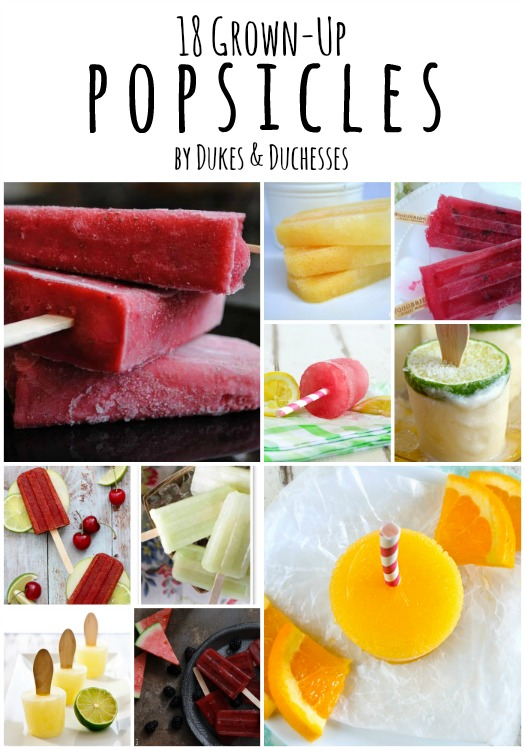 18 grown-up popsicles