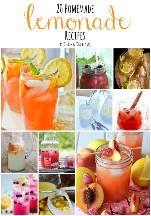 20 homemade lemonade recipes