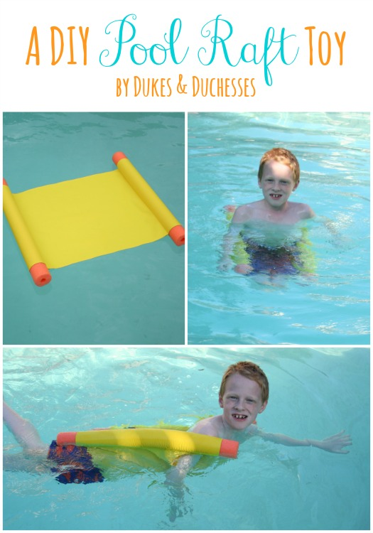 a DIY pool raft toy