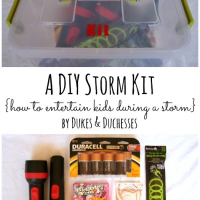 A Duracell-Powered Storm Kit {and Entertaining Kids During a Storm}