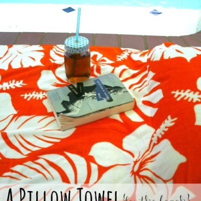 A Pillow Towel for the Beach or Pool