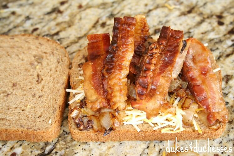 bacon on grilled cheese