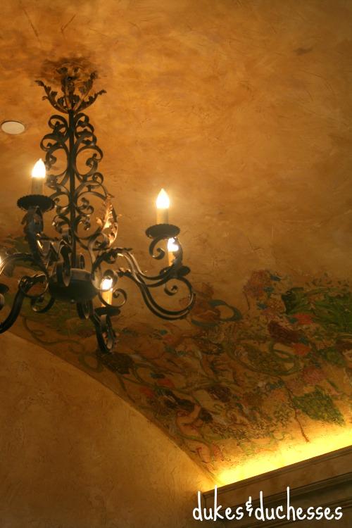 ceiling at Delaney Vineyard