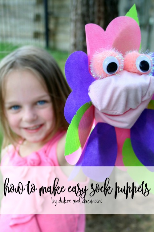 how to make easy sock puppets