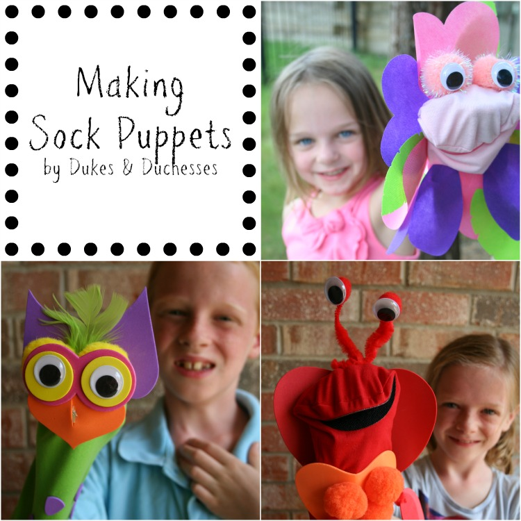 making sock puppets with kids