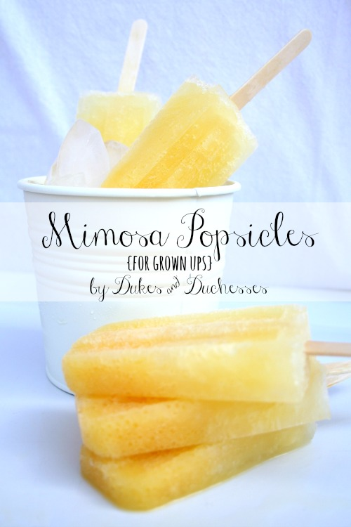mimosa popsicles for grown ups