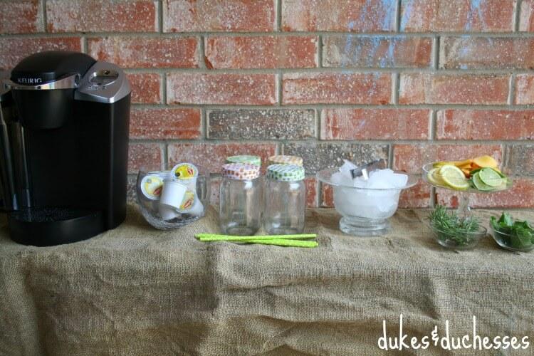 quick iced tea bar