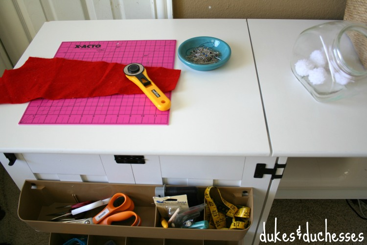 table space on cabinet