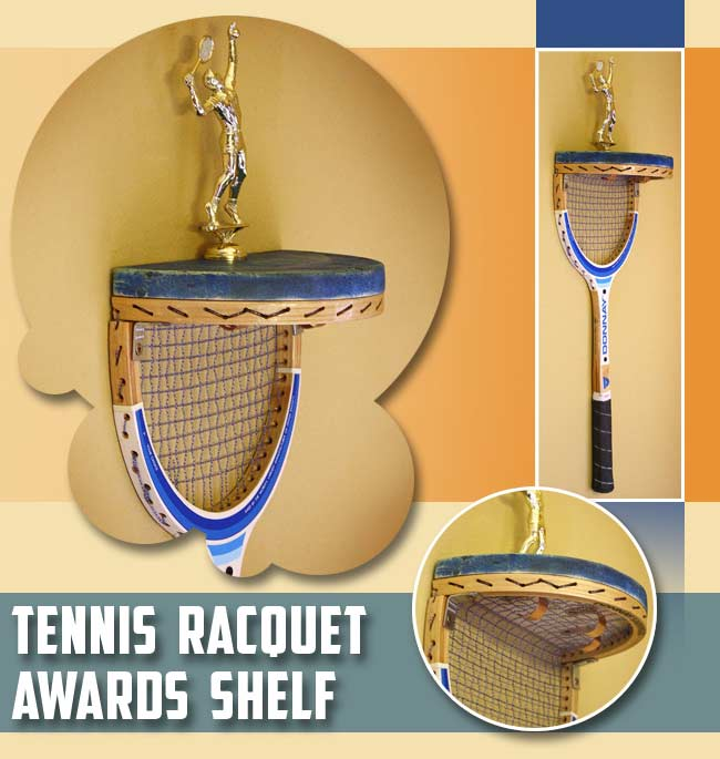 TennisRacquetAwardsShelf