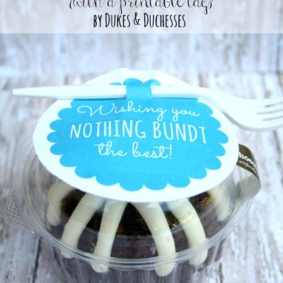 A Bundt Cake Gift {with a Printable Tag}