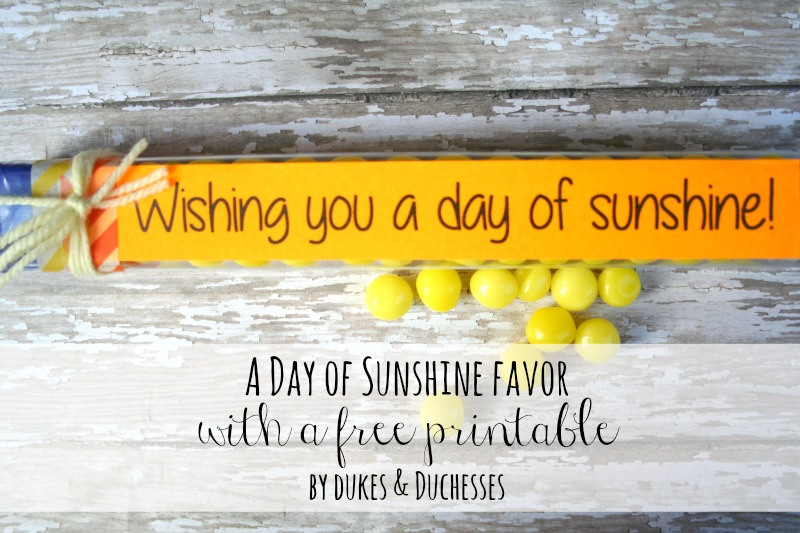 a day of sunshine printable