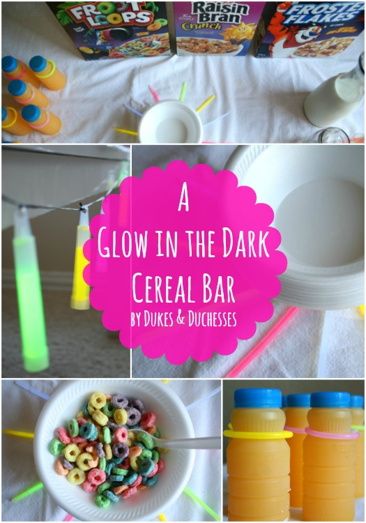 a glow in the dark cereal bar