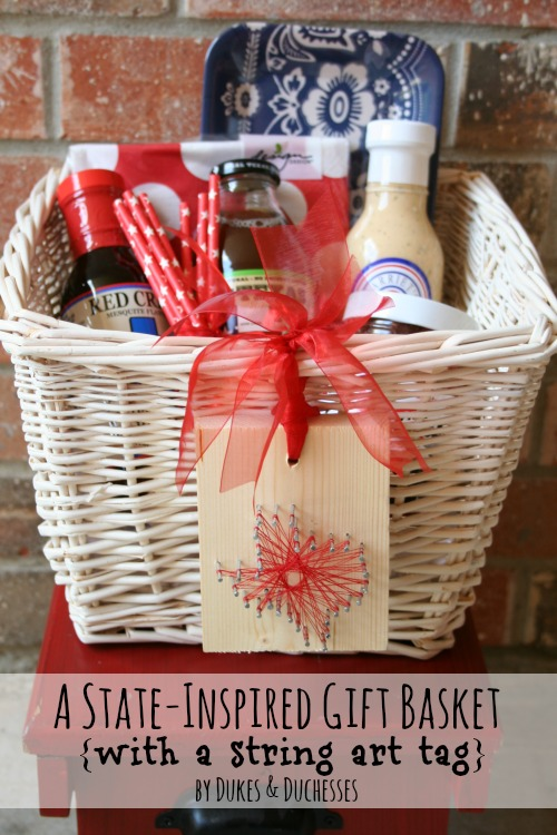 state inspired gift basket