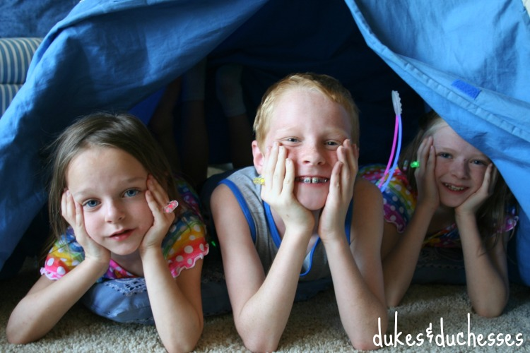 camping in the tent