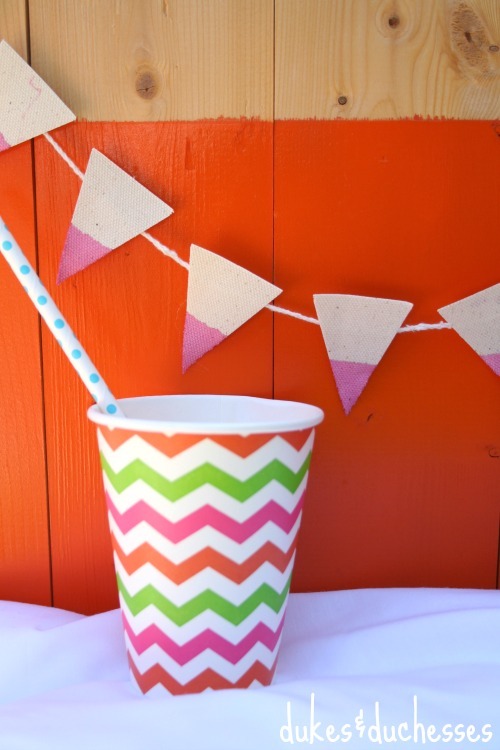 colorful dip dyed banner