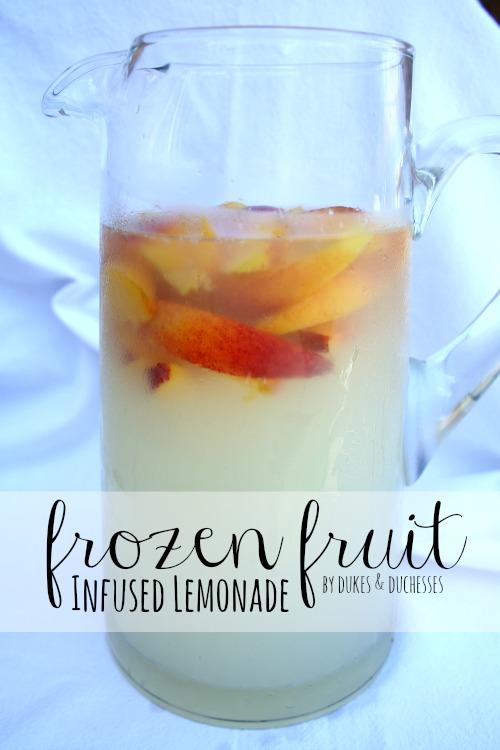 frozen fruit infused lemonade