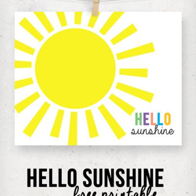 Hello Sunshine Printable {a Guest Post}