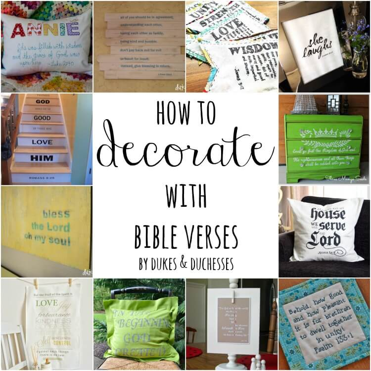 How to decorate with bible verses dukes and duchesses for Decorated bible