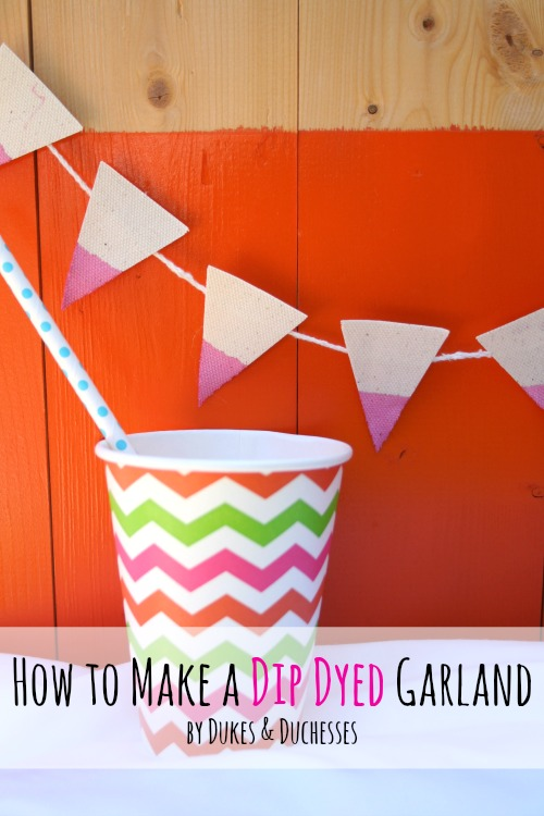 how to make a dip dyed garland