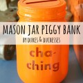 mason jar piggy bank