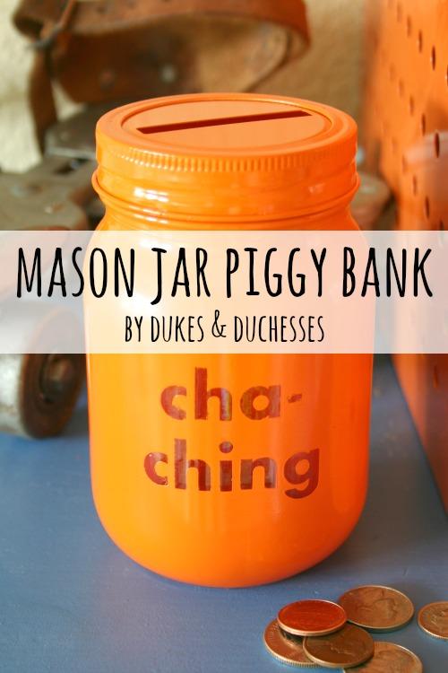 How To Make Mason Jar Piggy Banks Diy Mason Jar Craft Ideas