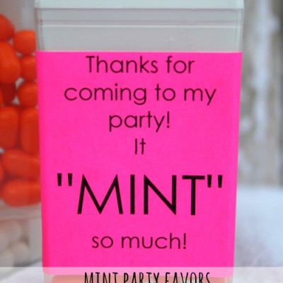 Mint Party Favors {with a Free Printable}