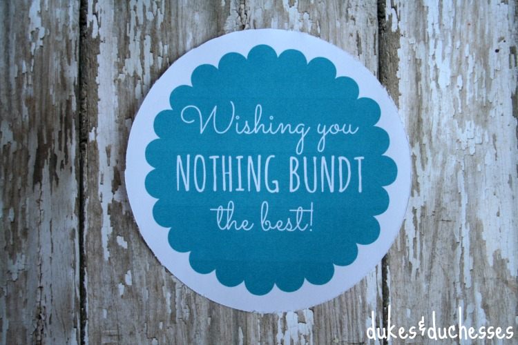 tag for bundt cake gift