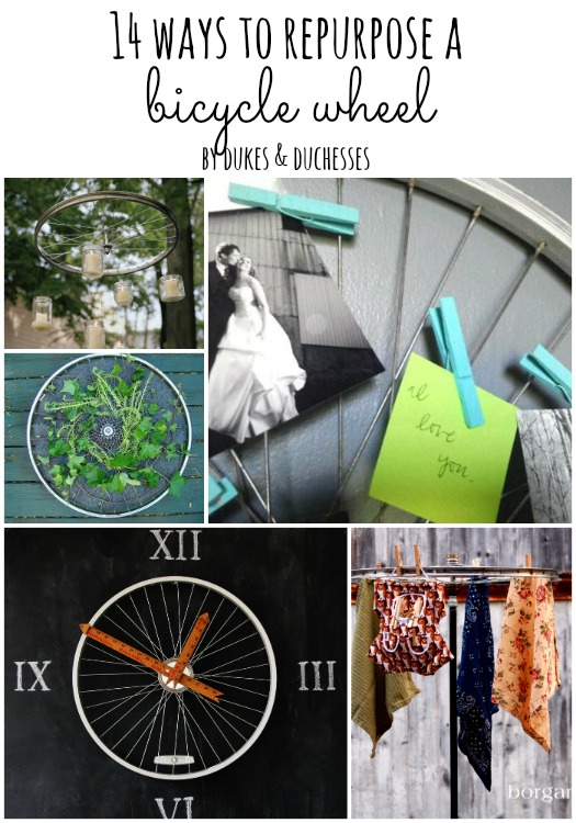 14 ways to repurpose a bicycle wheel