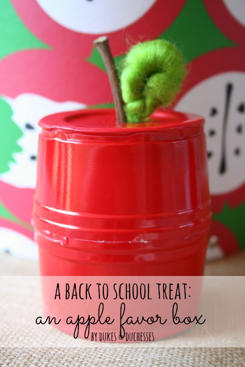 apple favor treat box for back to school