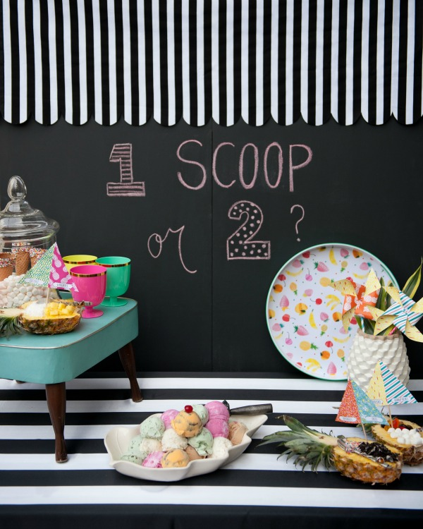 awning and chalkboard ice cream shop