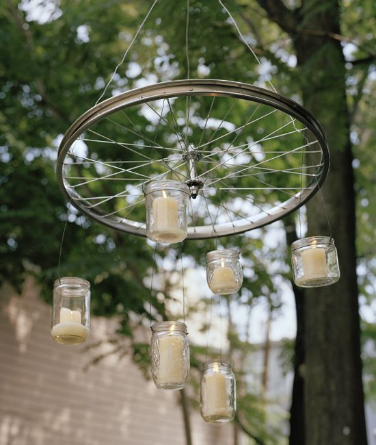 bicycle wheel chandelier
