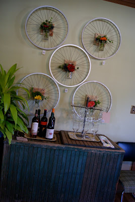 bicycle wheel vases