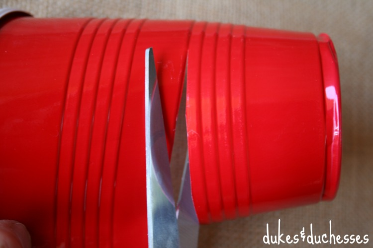 cut solo cups