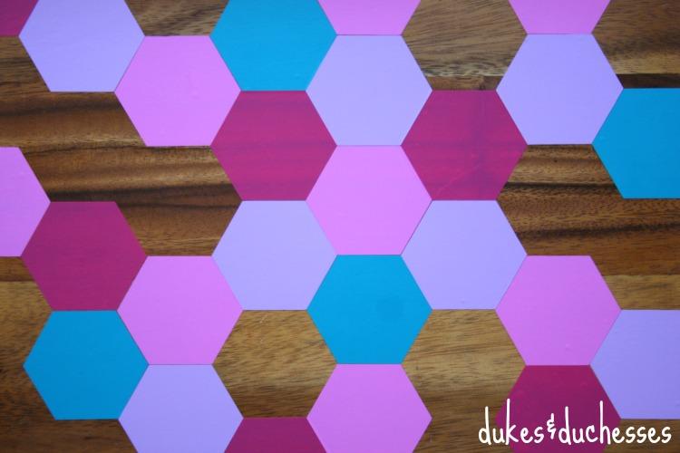 honeycomb pattern with vinyl