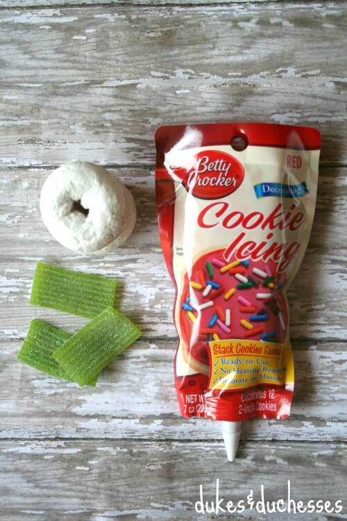 ingredients for apple donuts