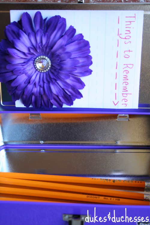 note for inside of pencil box