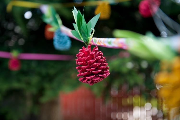 pinecone pineapple garland