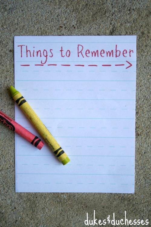 remember printable