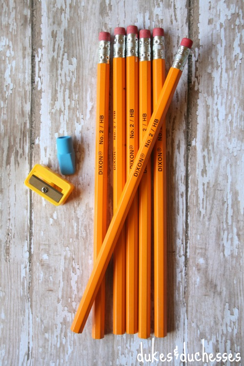supplies for personalized pencils