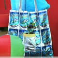 upcycled capri sun tote bag
