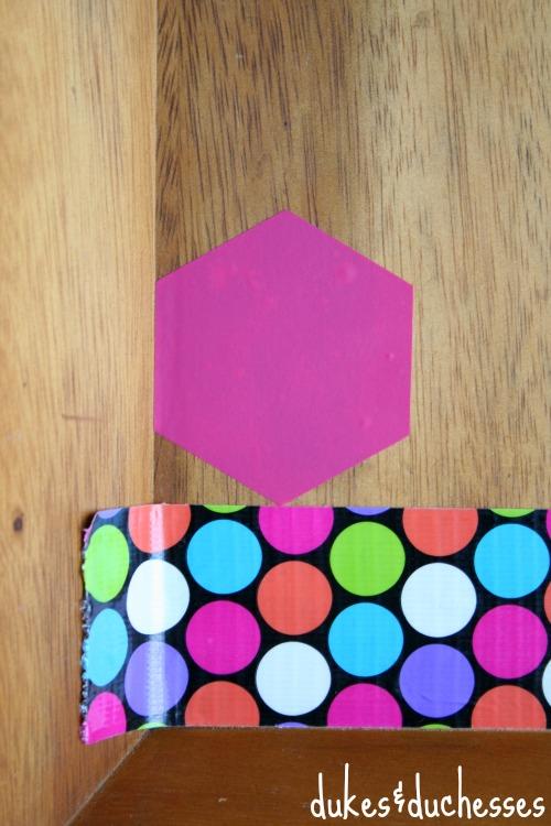 vinyl hexagons