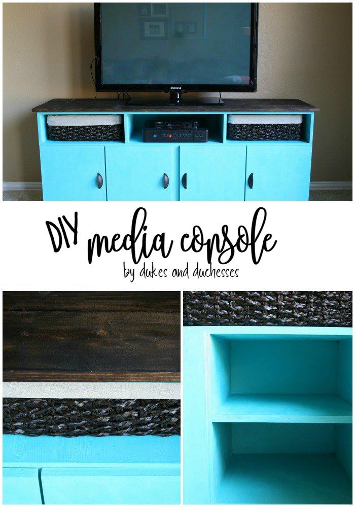 DIY media console